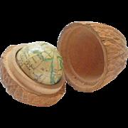 Rare German 1.25 inch Miniature Terrestrial Globe c1850