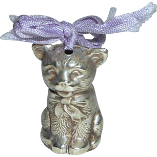 Sweet 1930's Cat Rattle