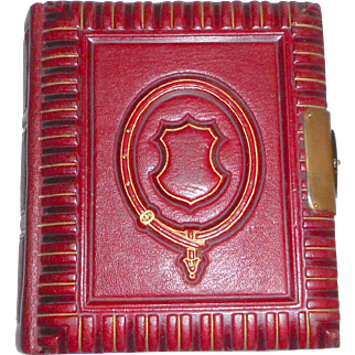 Small Red Leather Photograph Album c1880