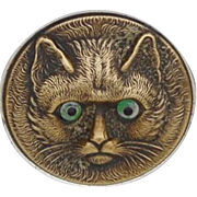 Amazing Cat Face Powder Pot c1910