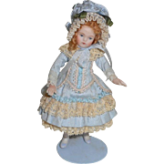 Delightful Bisque Artist Dolls House Doll Stunning Clothing