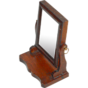 Miniature Mahogany Dressing Table Mirror c1910