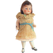Miniature German Bisque Doll c1910