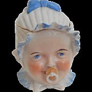 Antique Baby Porcelain Trinket Pot c1900