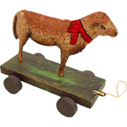 Decorative Wood & Metal Pull Toy