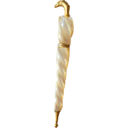 Palais Royal Mother Of Pearl Shell Parasol Needle Case c1840