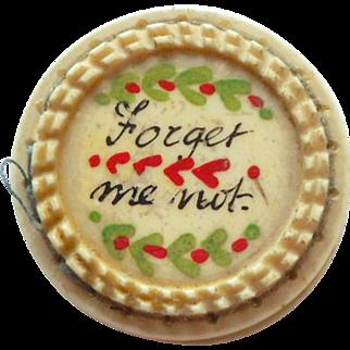 Handpainted Georgian Pinwheel Forget Me not