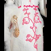 Tiny Gilt Chatelaine Pomander c1910