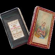 Fine Baxter Needle Box & Contents c1850