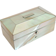 Fine Mother Of Pearl Needle Box c1860