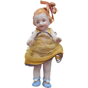 Sweet All Bisque Ribbon Top Knot Doll In Pom-Pom Shoes