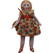 Hertwig Bisque Flapper Dolls house Doll
