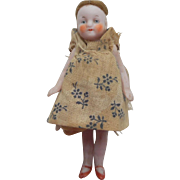 Sweet All Bisque Dolls House Doll c1915