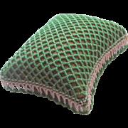 Fine Lattice Design Beaded Pin cushion c1880