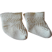 Antique Fancy Pattern Doll Socks c1900