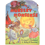 Nursery Nonsense A Kiddie Cut Book 1950's