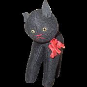 Prim Black Halloween Cat c1920
