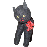 Prim Black Halloween Cat c1920