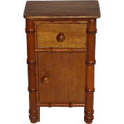 Large French Faux Bamboo Bedside c1900
