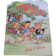 The Three Little Pigs Kiddie Cut Book 1950's