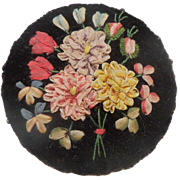 Ribbonwork Pin Cushion c1860