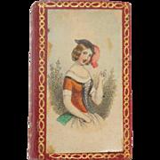 Fine Baxter Needle Case & Cushion  c1850