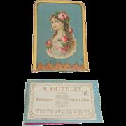 Victorian Silk Needlecase Whiteleys Drapers c1890