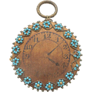 Beaded Pocket Watch Pin Wheel & Needlecase c1840