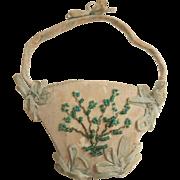 Silk Beaded Pin Cushion Basket c1840