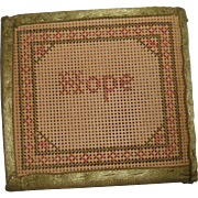 Punched Paper Sampler Cover Needlecase c1880