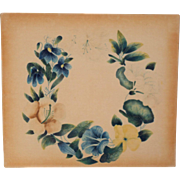 Lovely Theorem Painting Of Flowers c1840