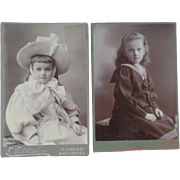 Two Edwardian Cabinet Photographs Of Young Girl