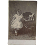 Cabinet Photograph Little Girl & Toys c1900