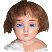 Wax Over Dolls Shoulderplate Attic Condition c1890