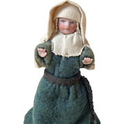 Bisque Nun Doll With Rosary c1900