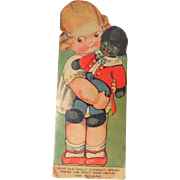 Figural Squeaker Book Golly & Mabel c1920