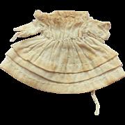 Tiniest Antique Muslin Dress For Grodnertal Wooden Doll c1820