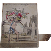 Scarce Hand Coloured German Surprise Card c1840