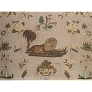 Regency Sampler Cats & Lion Hannah Booth 1833