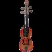 Small Czech Toy Tinplate Violin c1930