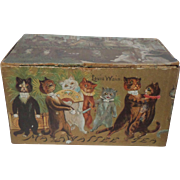 Rare Louis Wain Card Mazawattee Tea Box c1910