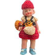 Hertwig Bisque Doll In Crochet Clothing