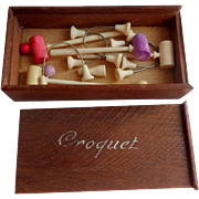 Miniature French Croquet Set FF Doll c1915