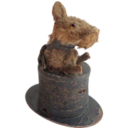 Novelty Dog In Top Hat c1920