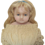 Antique Poured Wax Doll c1870