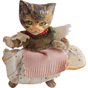 Sweet Composition Headed Cat Doll