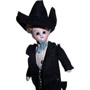 Sweet Mignonette Boy Doll In Original Costume c1900