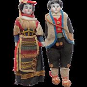 Early China Dolls House Dolls c1880