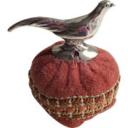 Solid Silver German Pincushion Pheasant