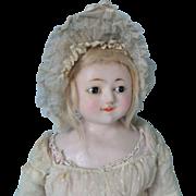 Early Slit Head Wax Doll All Original c1850
